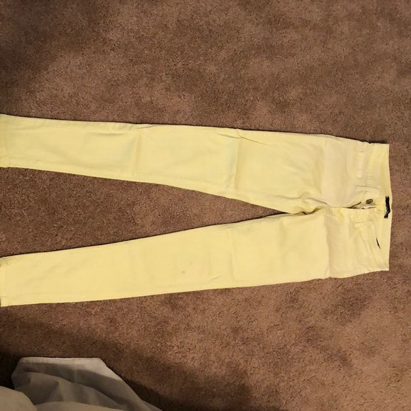 Bright Pastel Yellow Skinny Jeans